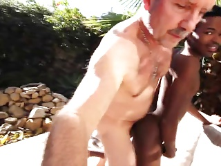 Married Rich White Dad BB Cum Outta Black Jock